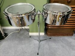 Slingerland Timbales 13 And 14 Vintage 1960's Almost Mint Condition.