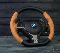 Bmw Oem Steering Wheel Leather M Sport E46 M3 Smg Zcp Carbon E39 M5