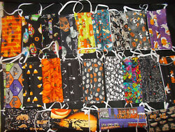 HALLOWEEN THEMED Face Masks 6pk Washable Cotton Made in USA $19.95