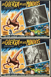 War Of The Worlds 1953 Mexican Lobby Card Movie Poster Full Set Near Mint