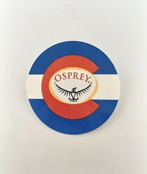 """Osprey Backpacks Red Blue Yellow Sticker Decal Outdoor Hiking 3"""" Colorado Flag $10.00"""