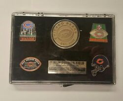 Soldier's Field 2003 Inaugural Chicago Bears Collectors Pin/coin Lmtd Editi New