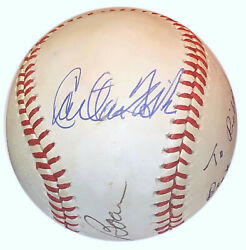 Carlton Fisk Al Lopez Bob Boone Signed Ball Players With Most Games At Catcher