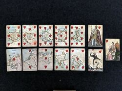 Antique Playing Cards Court Game Of Geography 46/52 William And Henry