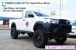 5 Fender Flares For Toyota Hilux Revo Cab 2 Doors 4x4 And Low Ride 2015-2020