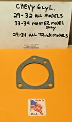 1929-1934 Chevy Truck 194 207 C.i. 6 Cylinder Water Pump Mounting Gasket Db Ad