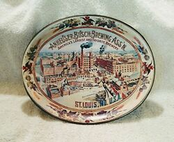 Vintage Tin Beer Serving Tray Anheuser-busch Brewing 15 X 12 St. Louis Mo