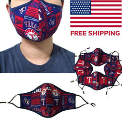 Texas Rangers Quality Fabric Face Mask MLB Baseball Cotton Cloth USA  $9.95