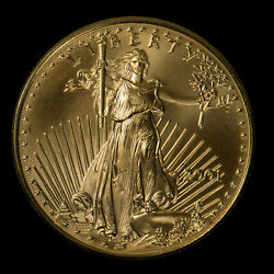 2001 25 1/2 Oz Gold American Eagle Bu Coin Better, Low Mintage - G1057
