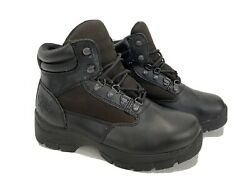 Texas Steer Leather Non Slip Black Boots 7.5 Wide Reinforced Toe $24.99