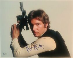 Harrison Ford Signed Autograph Star Wars 11x14 Photograph Beckett Authenticati