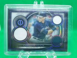 2020 Topps Tribute Baseball Christian Yelich Game Used Memorabilia Brewers D 50