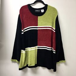 Sag Harbor Color Block Womans Sweater Pullover Size 3x