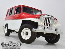 1959 Willys Utility Wagon  1959 Willys Utility Wagon  51382 Miles Red and White SUV 226 cubic inch inline-6