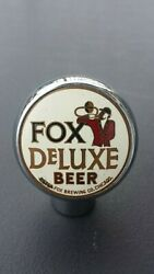 Vintage Fox Deluxe Beer Ball Knob Tap Handle - 1930and039s - Peter Fox Chicago Il