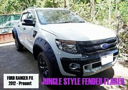 Jungle Offroad Fender Flares Arch For Ford Ranger Px T6 Wildtrak 2012 2013 2014