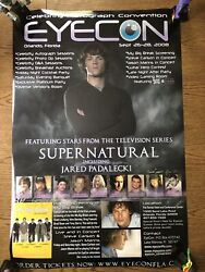 Supernatural Jared Padalecki Cast Signed Eye Con Autograph Poster 24x36