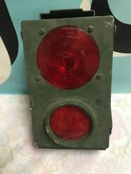 Vintage Military Flasher Signaling Box With Stimsonite Lens And Reflector 12v