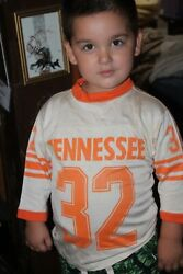 Vintage 1970's Tennessee Volunteers Child's Football Jersey Vols All-pro S 6-8