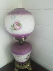 Beautiful Working Antique Gone With The Wind Lamp