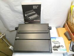 Vintage Atandt Model 6100 Electronic Typewriter With Manual, Extra Ribbon And Box Nr