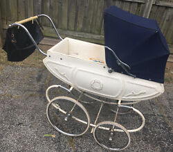 Antique Pedigree Baby Stroller Carriage Vintage Buggy Rare Photography Prop