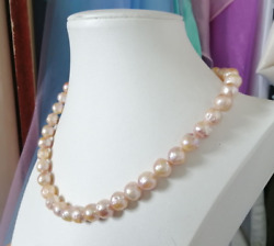 12-13 Mm Natural Baroque South Sea Gold Pearl Necklace 26