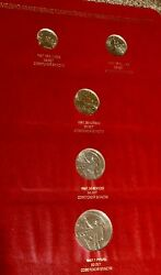Ussr Russian Commemorative 5 Coins Set Of 1967 50th October Revolution Proof