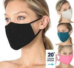 Soft Cotton Face Mask Double Layer Breathable Reusable Cloth Washable Color $5.95
