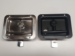 Chrome Or Black Folding T-handles For Commercial Contractor Truck Cap Tops T711