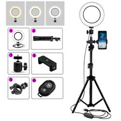 Led 6 Inch Ring Light With Tripod Stand Photo Video Tik Tok ,bluetooth Remote