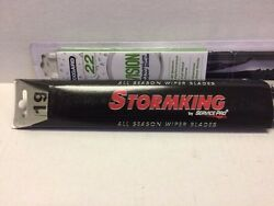 Pair2 Windshield Wiper Blades J-hook Only 22and 19 Inch All Season
