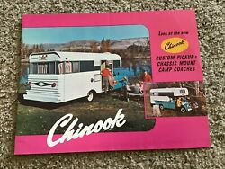 1960s Chinook Custom Pickup Chassis Mount Camp Coaches Sales Literature.