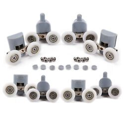8pcs Twin Spare Replace Bathroom Shower Door Rollers Runners Pulleys Wheels 25mm