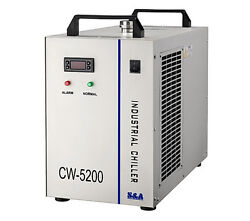 110v Industrial Water Chiller Cw-5200 For Cooling Co2 Laser Tube Or Cnc Spindle