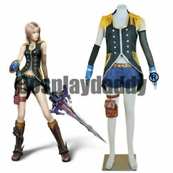 Final Fantasy Xiii Serah Farron Style And Steel Ver. Outfit Cosplay Costume