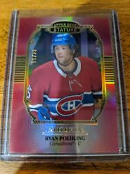 19-20 Ud Stature Non Auto Red Rookie Base Variant Ryan Poehling Canadiens 10/20