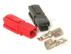 Anderson Powerpole Connector 45 Amp Contacts Red And Black Housings 50 Pack