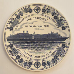 Ms Westerdam The Inuagural 2004 Plate Holland America Line 9 3/4 Inches