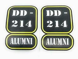 Dd-214 Alumni 5 X 3.5 Us Army Military Discharge Paper Set Of 2 Fabric Decals