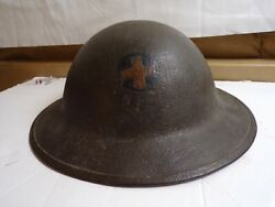 Ww-1 Doughboy Helmet With Period Applied 33rd Infantry Division Insignia-rare