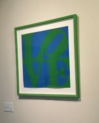 THE VERY FIRST Robert Indiana signed LOVE serigraph 1966  May be only one left