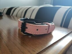 VooPet Pink Padded Leather Dog Cat Collar SZ S NEW fits 9 7 8 11 3 8 neck size