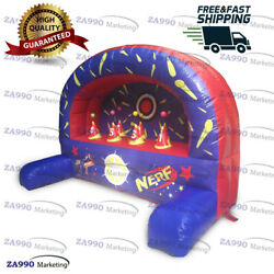 10x5ft Inflatable Shooting Nerf Gun Target Sport Game With Air Blower