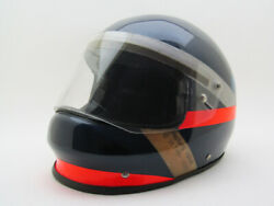 Very Rare Vintage 80's Carbon Fiber Made With Kevlar Motorcycle Hartung Helmet