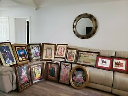 Vintage Rare Budweiser Framed Mirror Sign Pictures, Collectibles