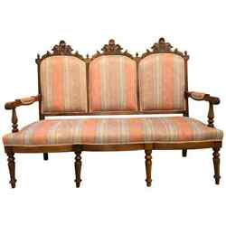 Eastlake Victorian Canape Sette In New Fabric 101-4915