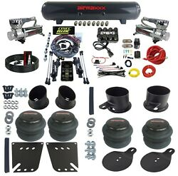 3 Preset Height Air Ride Suspension Kit W/manifold And Chrome 580 For 58-64 Impala
