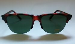 Classic Clubmaster Style Half Rim Sunglasses Green Tinted uv400 protection $9.95