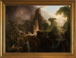 Classic Framed Thomas Cole Expulsion From The Garden Of Eden Giclee Canvas Print